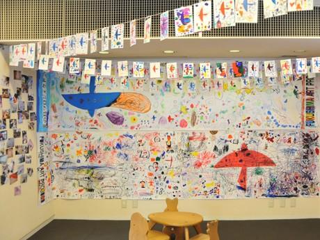 「光の鳥」プロジェクト、展示の様子