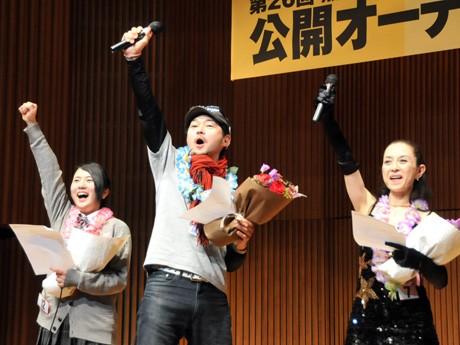 左から来代ひよりさん(照姫)、清澤洋一さん(豊島泰経)、吉田恒子さん(奥方)