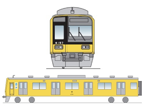 黄色い6000系電車 イメージ