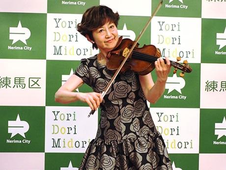 バイオリン演奏の様子