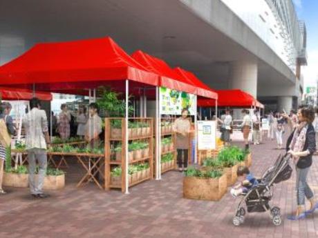 石神井公園駅で「マルシェ」 野菜・ワイン・パンなど約20店