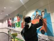 大泉の商業施設にペイントアート 日芸美術学科の学生が制作
