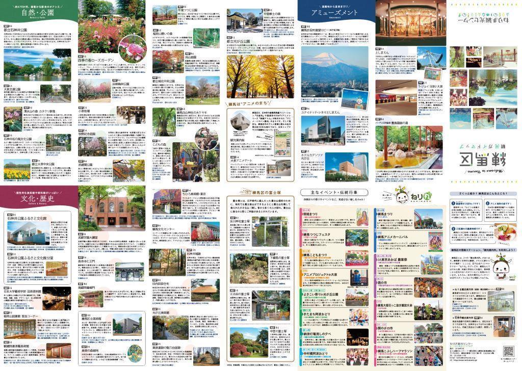 「練馬区観光ガイドマップ」中面