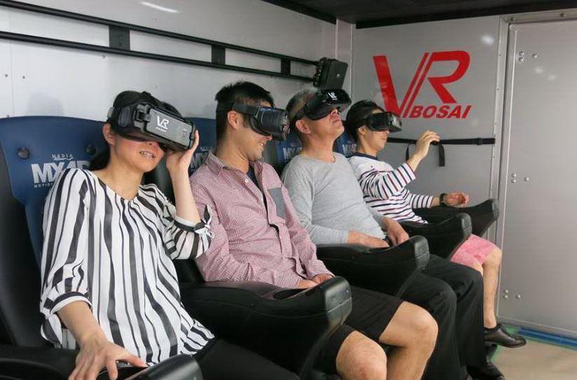 VR防災体験車のイメージ