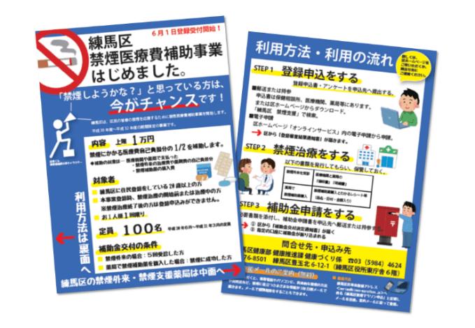 事業紹介用のパンフレット