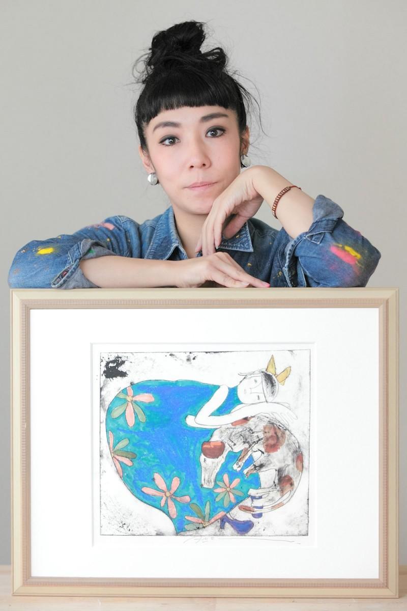 版画家の蟹江杏さん