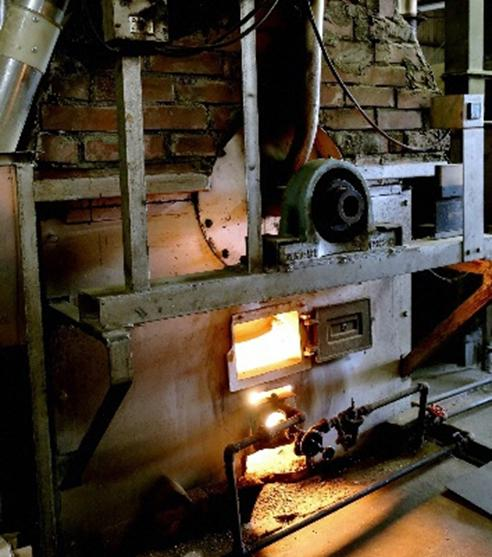 川原製粉所の焙煎釜