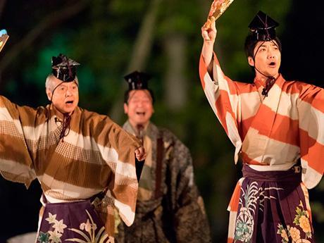 石神井松の風文化公園で行った狂言「二人袴」(過去開催の様子)
