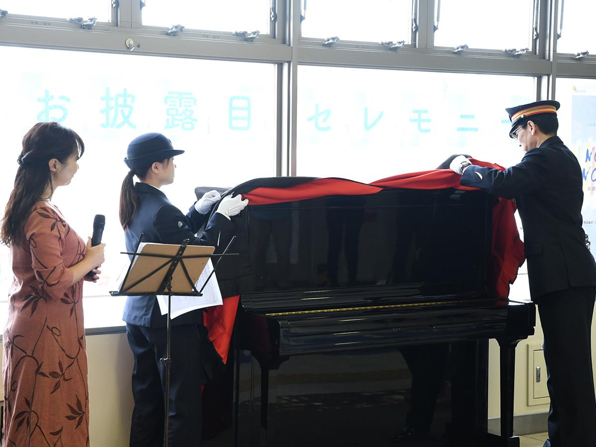 江古田駅にピアノを設置