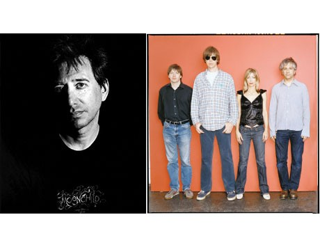 主催者のジョン・ゾーンさん ©Scott Irvine Photography(左)と主演するNY出身バンド「ソニック・ユース」&copy:Michael lavine(右)