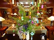 ニューヨークの日系ホテルで七夕「ササ飾り」展示-仙台への気持ち込めて