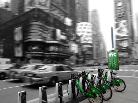 タイムズスクエアのバイクシェアリングステーション(イメージ図)