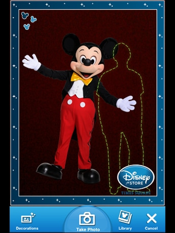 ディズニーの携帯アプリ「ディズニー・メモリーズ(Disney Memories)」とミッキーマウスステッカー