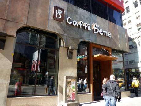タイムズスクエアにオープンした韓国発「Caffe Bene(カフェベネ)」