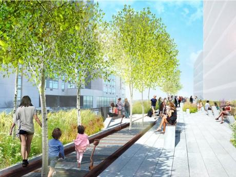 ハイラインの第3区画、完成予想図 © James Corner Field Operations and Diller Scofidio + Renfro. Courtesy of the City of New York and Friends of the High Line.