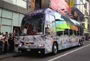 マルチメディア観光バス「THE Fazzino RIDE」の外観