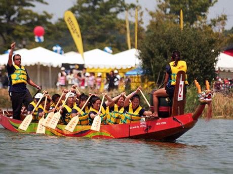 香港伝統のドラゴンボート