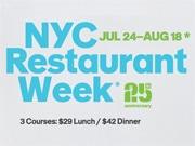 NYでレストランウイーク 特別料金でレストランコース料理を