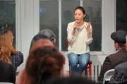 NYミッドタウンで植村花菜さんの講演会 「エンタメ・スポーツの会」で