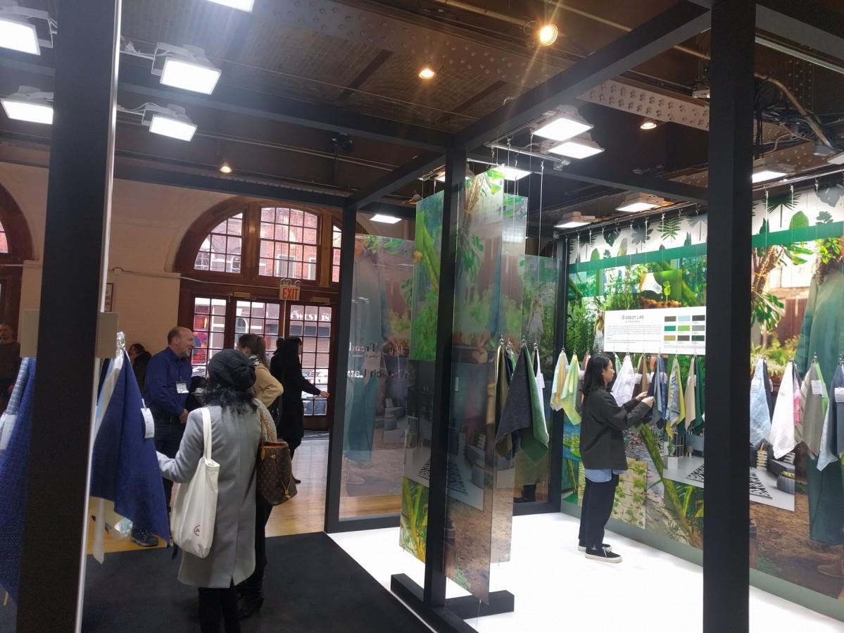 展示会「Japan Textile Salon in NYC」トレンドブースの様子