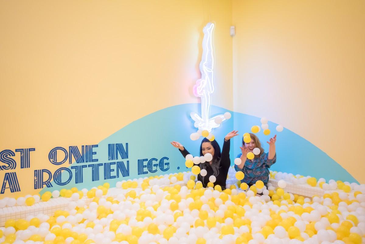 ミュージアム内の卵を表現したプール Photo Credit: The Egg House