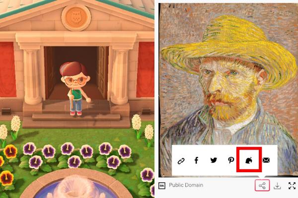 どうぶつの森画像とメトロポリタン美術館の画像ダウンロードページ