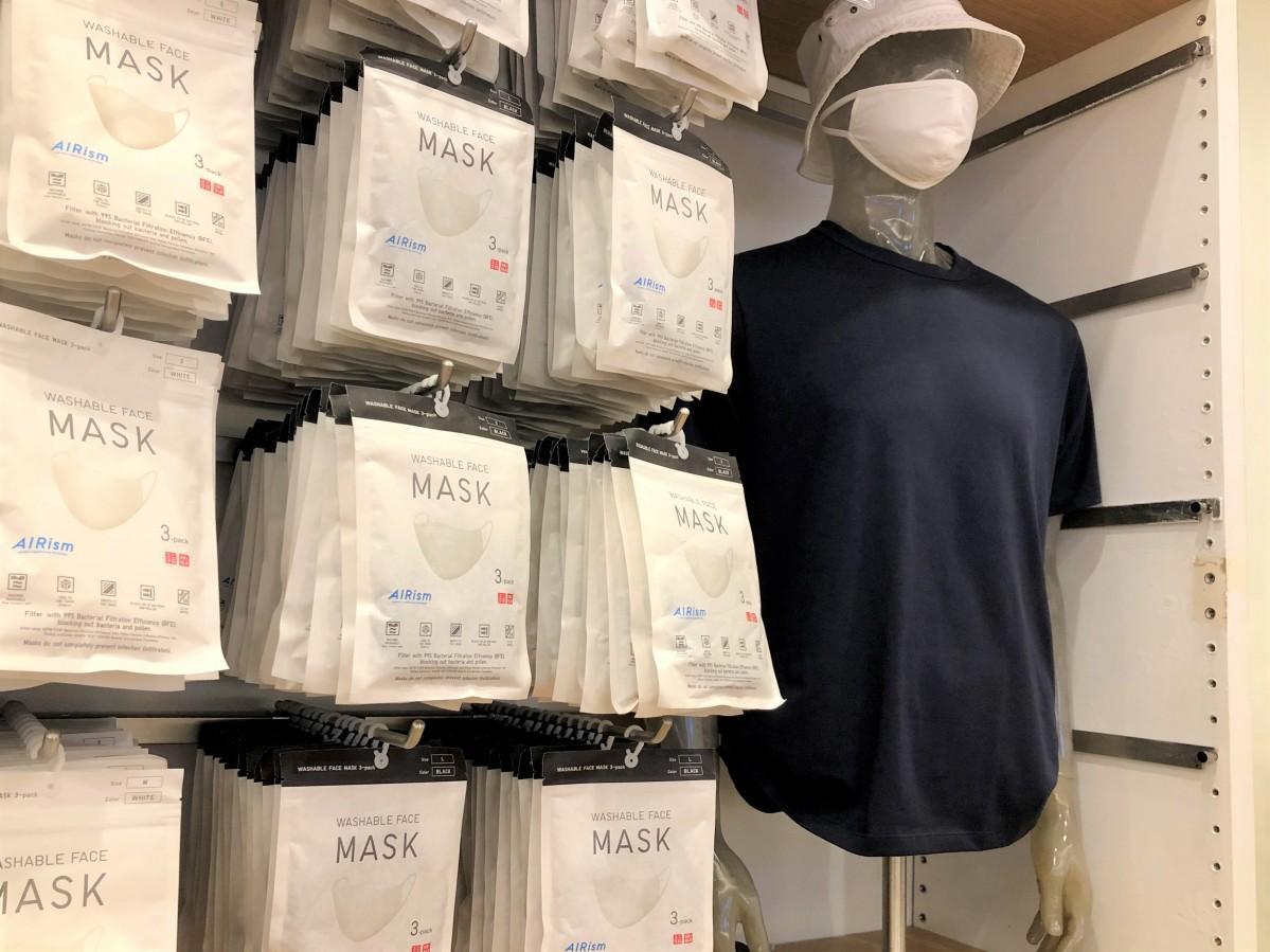 ニューヨーク店頭に並ぶエアリズムマスク