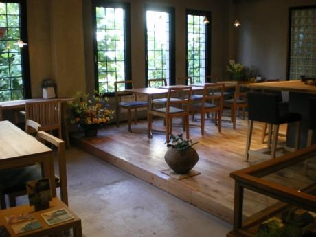 無農薬日本茶カフェ「回季」の店内
