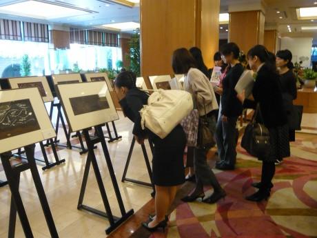 昨年の同イベント浮世絵展示の様子