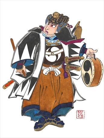 扇子デザインとしても起用された、新作「仮名手本忠臣蔵」