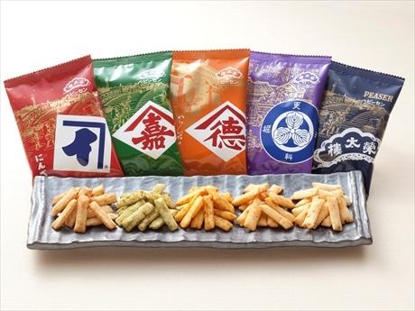 「東京土産としての使い勝手の良さを意識して開発された老舗5社コラボ「ピーセン」