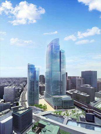 段階的に4棟のビルを建設。完成すると「あべのハルカス」を抑え日本一高いビルになる