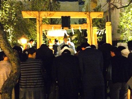 五條天神社宮司が斎主となり参拝者の無病息災を祈願