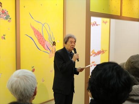 日本橋三越で細川護熙さん「薬師寺慈恩殿 奉納障壁画展」 特選散華60点展覧も