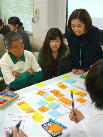 被災地支援をテーマとしたワークショップに、年齢や職業を超えて多くの来場者が参加