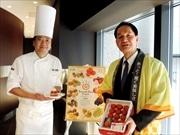 京橋エドグラン「トシ・ヨロイズカ」で新作スイーツ 香川産「さぬきひめ」使用