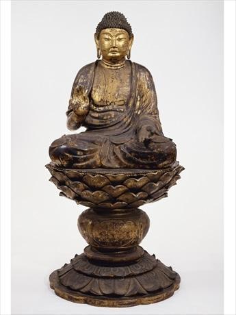 「重文 塔本四仏坐像 釈迦如来坐像 奈良時代 奈良・西大寺」画像提供:奈良国立博物館(撮影 森村 欣司)