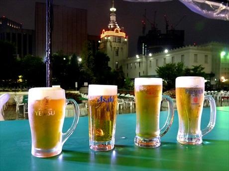 オプションで4大ビールメーカーのプレミアムビール飲み放題も