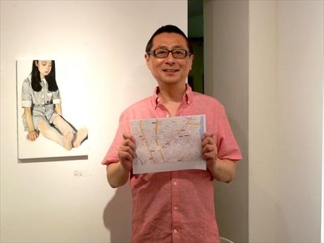 「週末などマップ片手にアート散歩を楽しんでほしい」と三浦さん