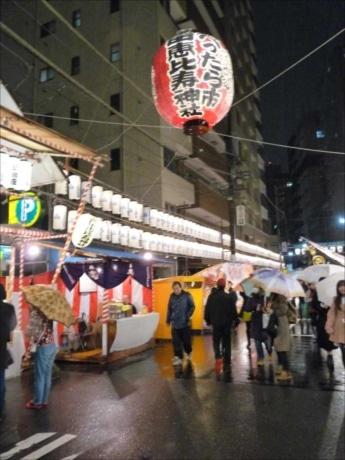 恵比寿講の前日、参道に市が立ち、魚や野菜、神棚などが売られていたのが同市の起源