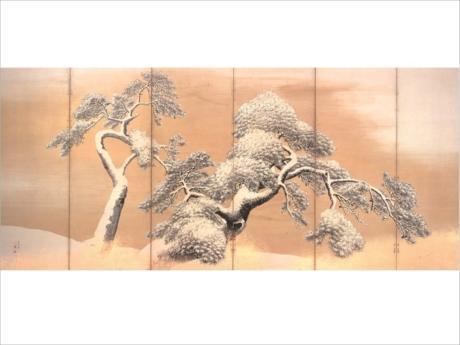 円山応挙筆「国宝 雪松図屏風 6曲1雙」(江戸時代・18世紀、北三井家旧蔵)は1月4日~2月4日まで展示