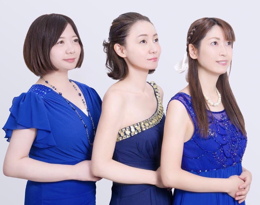 福島出身の3人。左からバイオリン:加藤菜々子さん、ボーカル:唐橋宙子さん、ピアノ・作曲:奏音(かなで)さん
