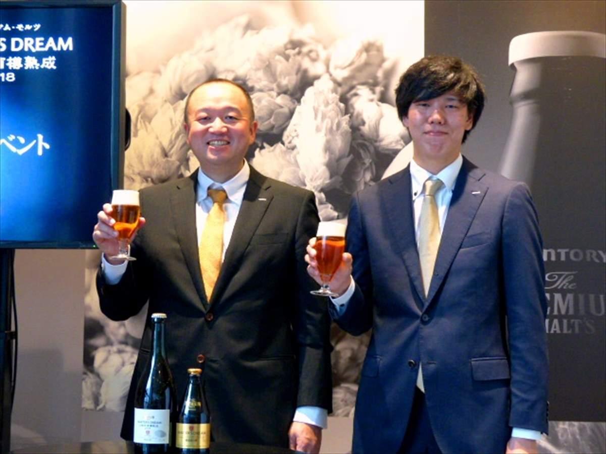 開発担当の醸造家、丸橋太一(左)さんと岡島高穂さん