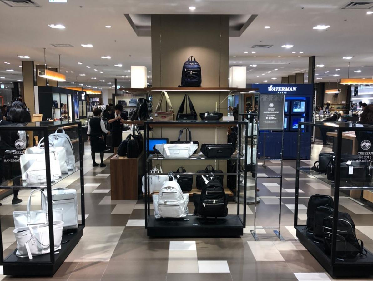 大丸東京店に展開するオリジナルブランド「CREEZAN」のポップアップショップ