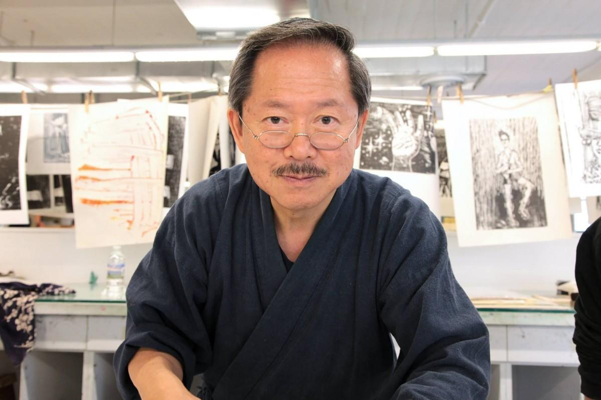 浮世絵彫り師の朝香元晴さん。元アップルCEOスティーブ・ジョブズから美人画の復刻依頼を受けたことも