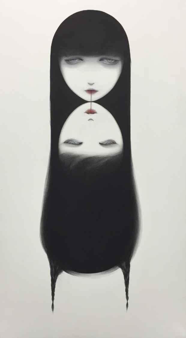 今春武蔵野美術大学を卒業し、4月より同校の大学院修士課程日本画コースに進学した大寺史紗さんの作品「思春期 Adolescence」