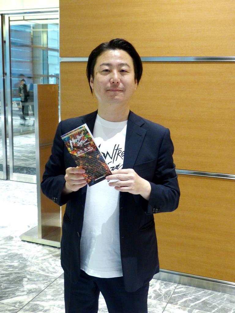 「音楽の楽しさを日本橋から発信していきたい」と話す、プロデューサーの大伴公一さん