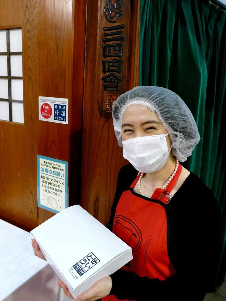 応援弁当作りは「日本橋三四四会」加盟店の中から有志飲食店約25店舖が担当