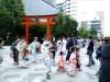 日本橋で浴衣集団街歩き 「着物が似合う街」目指し、料飲組合青年部ら主催