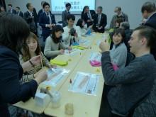八重洲で「木のストロー」プロジェクト発表会 訪日外国人に1000万本配布